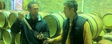 Andy & Michel discussing the blend